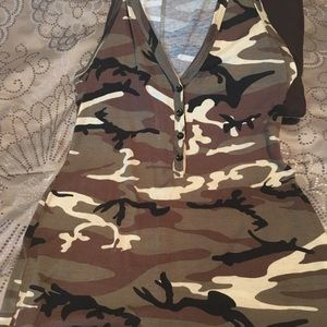 Other - One piece camo shorts